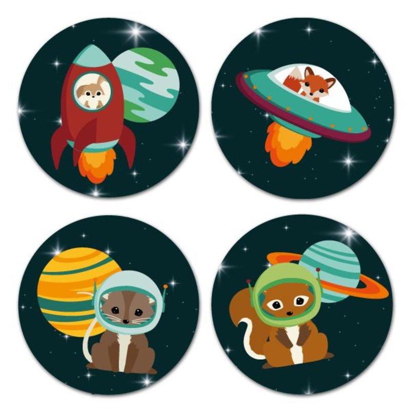 Oktoberdots Stickers Woodland Heelal