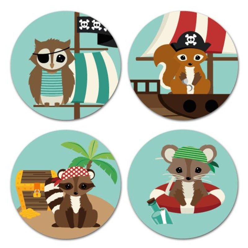 Oktoberdots Stickers Woodland Piraten