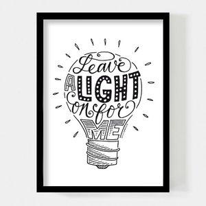 Paperfuel A4 Poster Leave a Light On