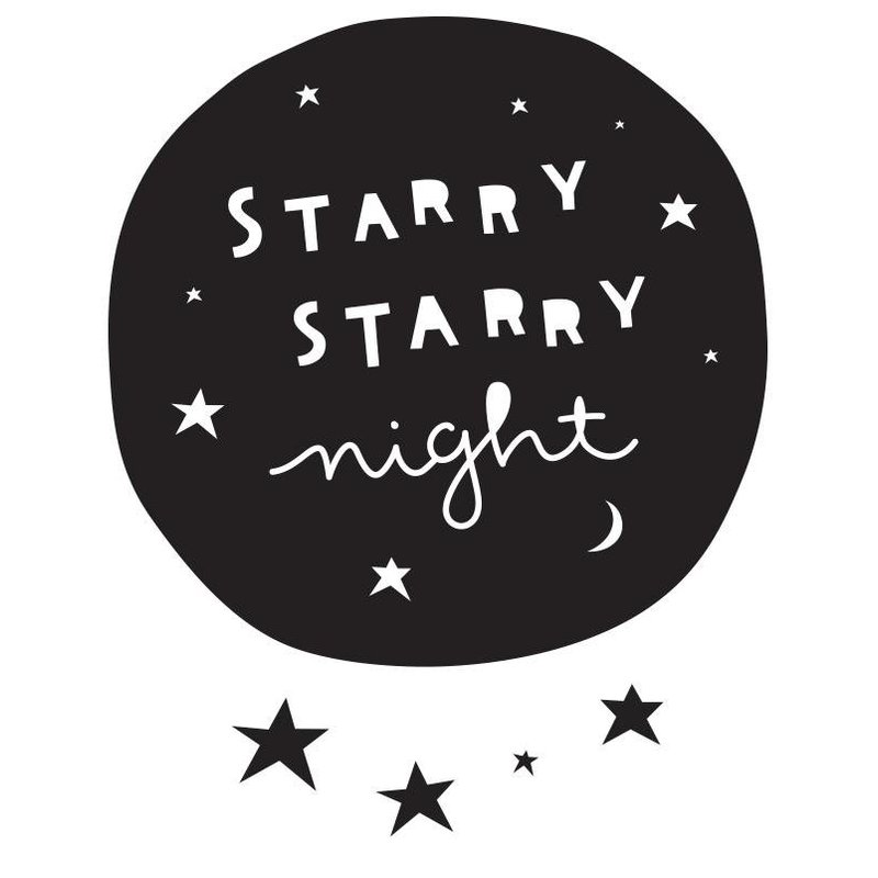 A Little Lovely Company Muurstickers Starry Night