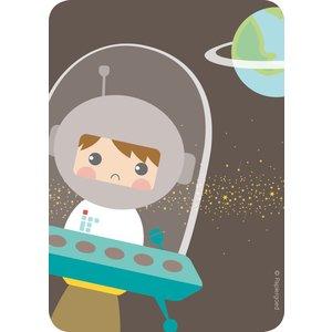 Papiergoed Uitnodigingen Astronaut