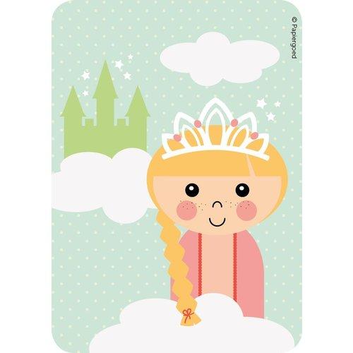 Papiergoed Uitnodigingen Kinderfeestje Prinses