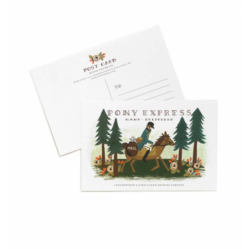 Rifle Paper Co. Postkaarten Pony Express