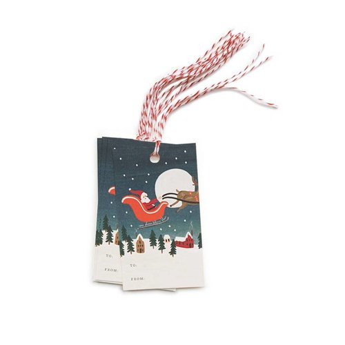 Rifle Paper Co. Cadeaulabels Santa's Sleigh
