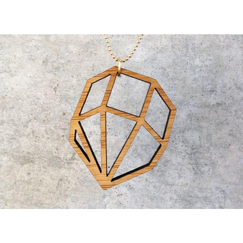 All Things We Like Ketting 3D Kristal Hout
