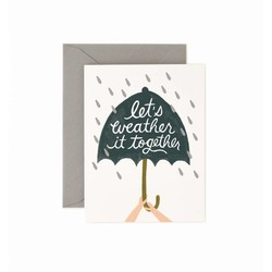 Rifle Paper Co. Wenskaart Weather it Together