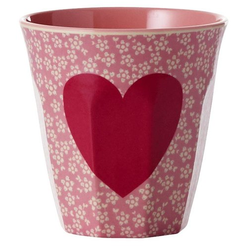 Rice Melamine beker two tone Heart