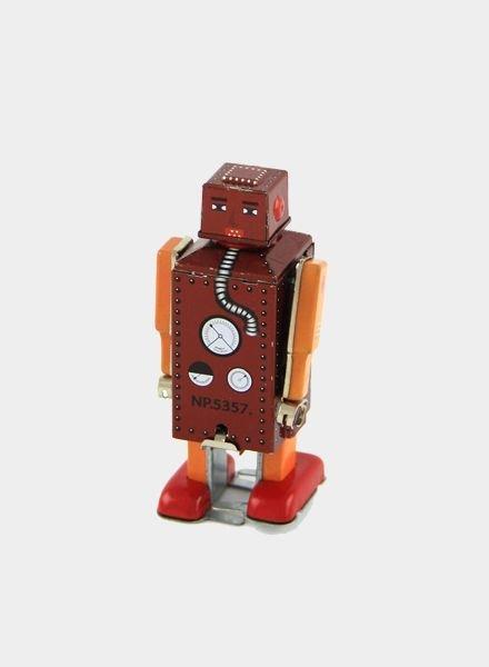 Vintoys Blokhoofd Brammetje Lilliput Robot Bruin