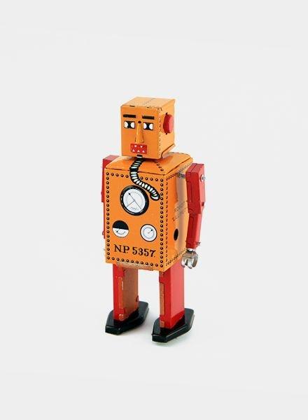 Vintoys Blokhoofd Barry Lilliput Robot Oranje