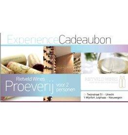 Rietveld Wines Rietveld Wines Experience Cadeaubon t.w.v. € 30,-