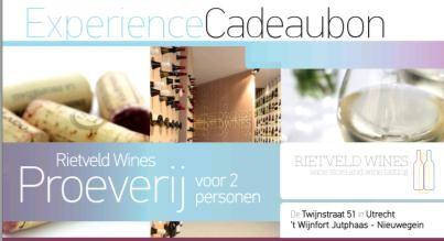 Rietveld Wines Rietveld Wines Experience Cadeaubon t.w.v. € 30,- - Copy