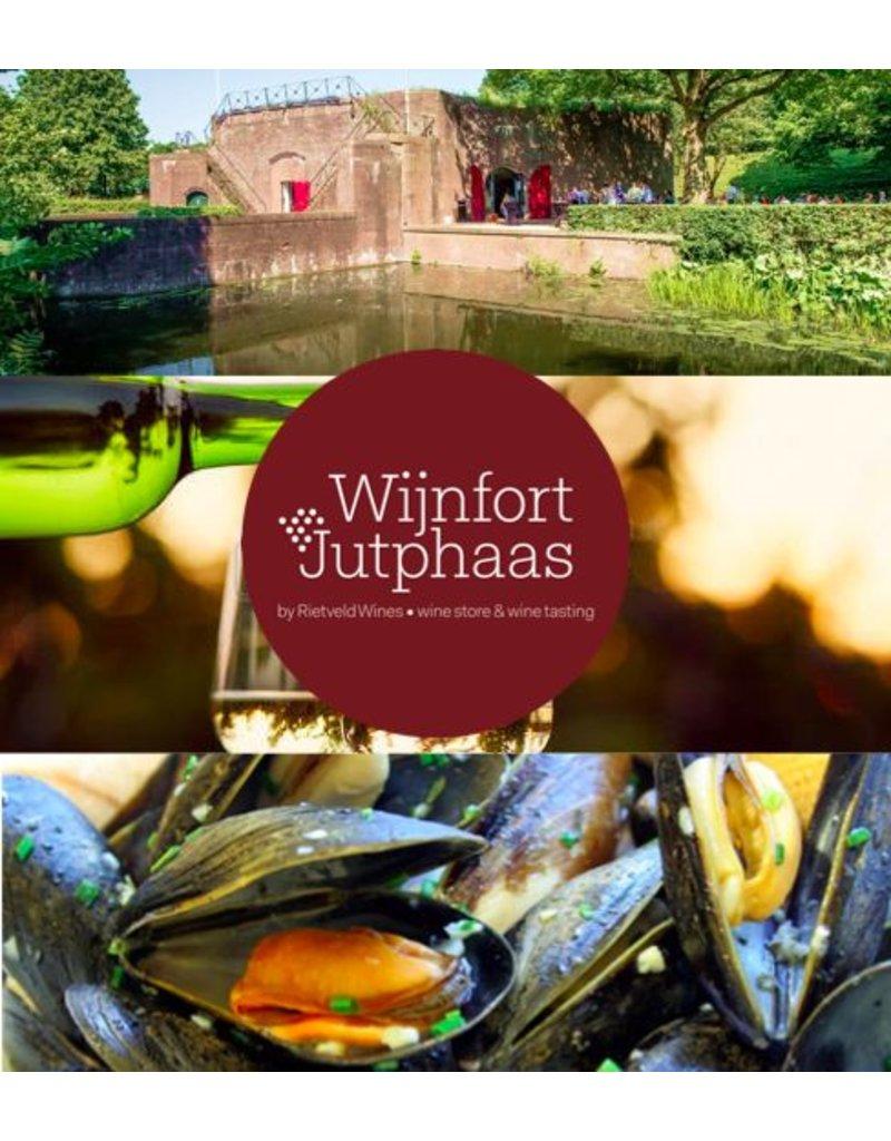 Zaterdag 23 september, het mosseldiner bij Wijnfort Jutphaas