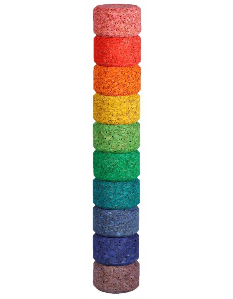 Korxx Round C - 10 gekleurde ronde bouwstenen