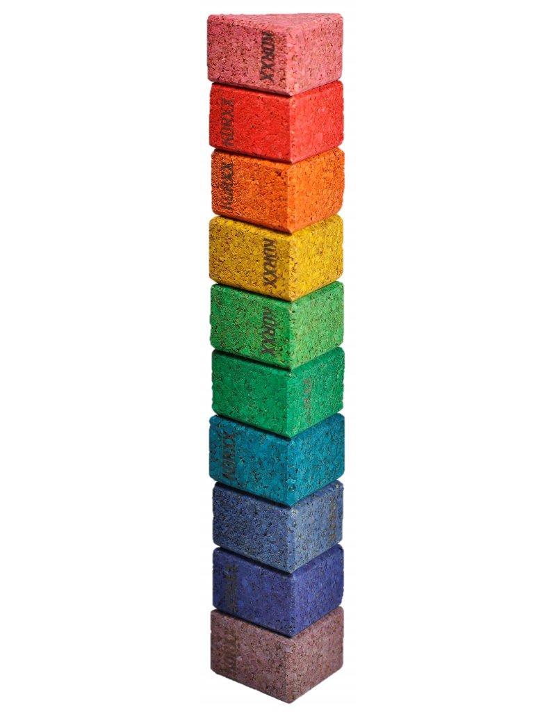 Korxx Tien (10) driehoekige bouwblokken van kurk om te bouwen