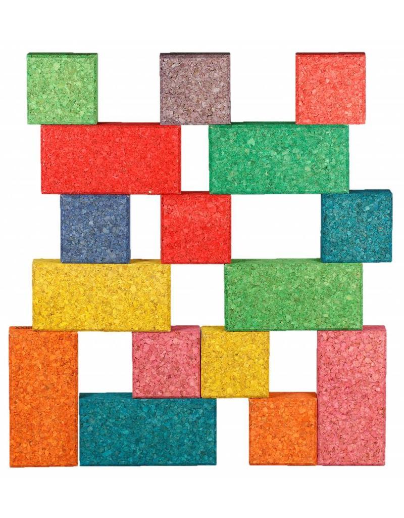 Korxx Cuboid C Mix edu - 38 gekleurde bouwstenen