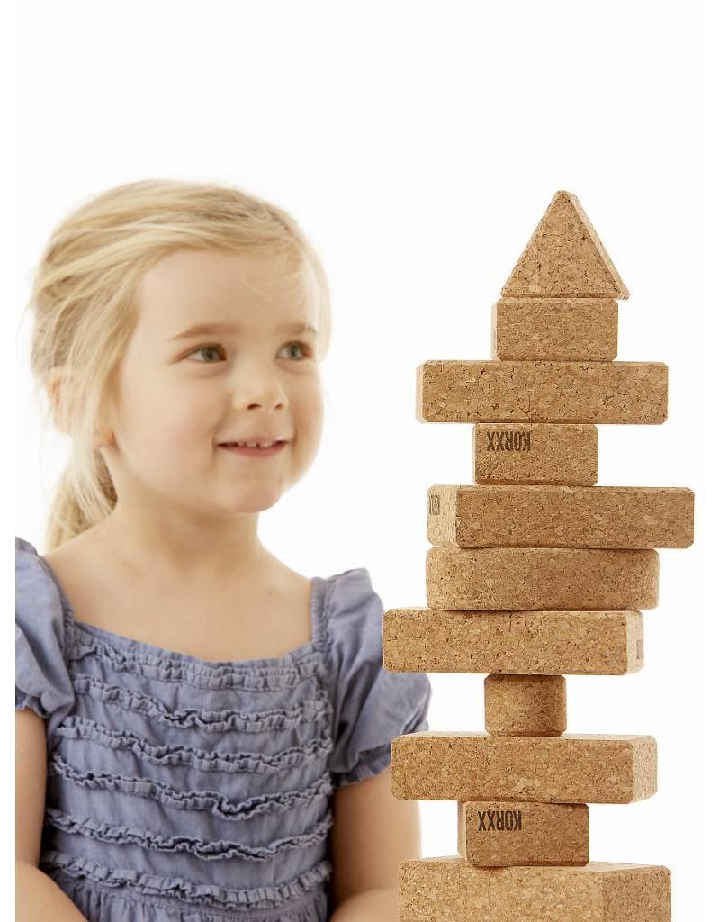 Korxx Zestig (60) kurk blokken om mee te bouwen