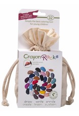Crayon Rocks Thirty-two (32) wax crayons in 32 colors in a muslin bag