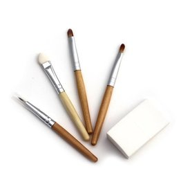 Natural Earth Paint Ecological bamboo make-up brushes