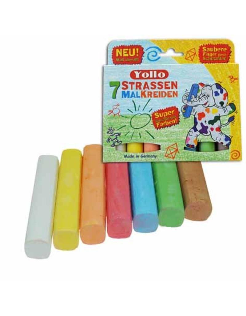 Kids at work Stofvrij stoepkrijt in zeven mooie kleuren