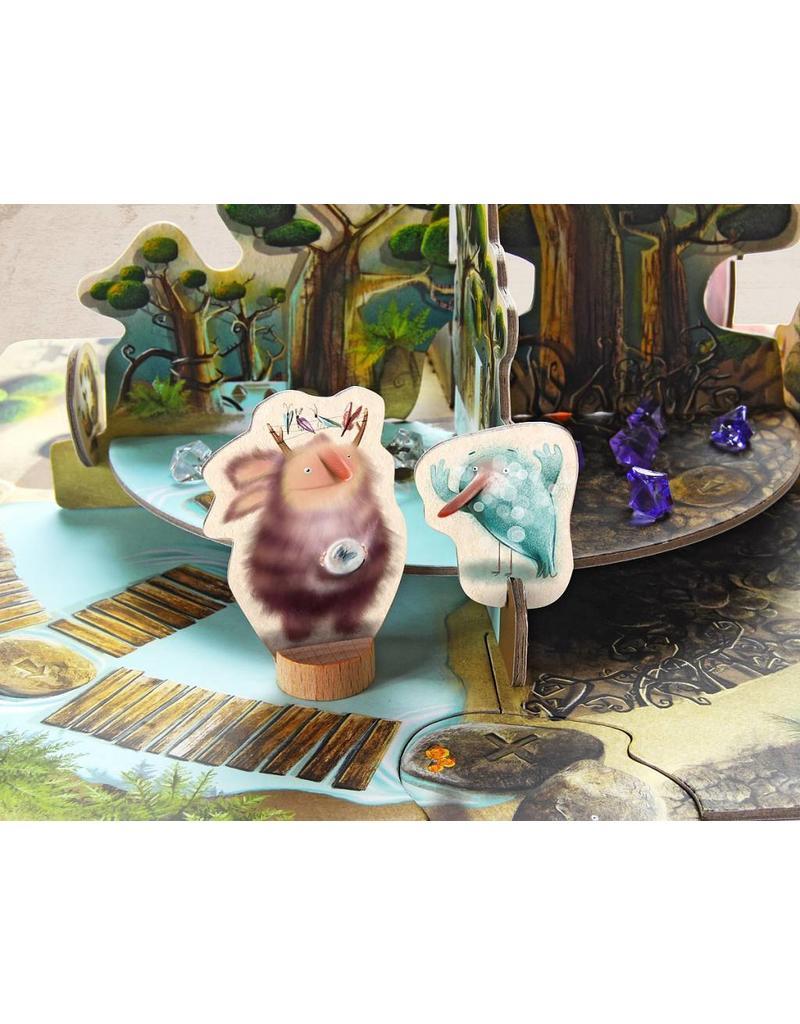 Marbushka Gus, een magisch spel in het bos
