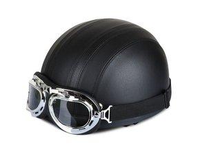 Leather half helmets