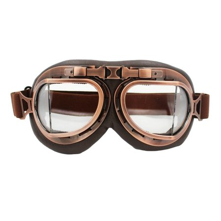 Vintage, pilot goggles clear glass