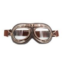 Vintage motorbril helder glas