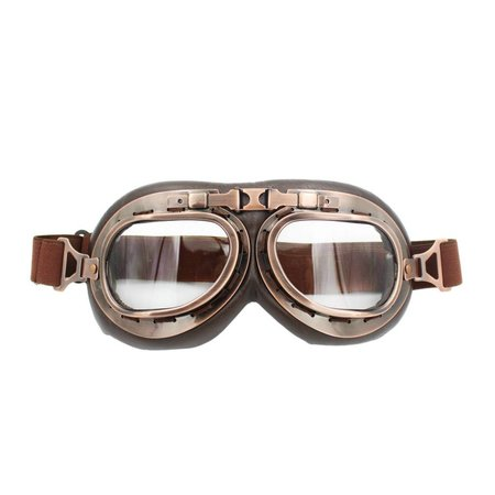 Vintage, motor goggles clear glass