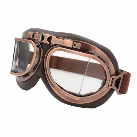 Vintage pilotenbril helder glas
