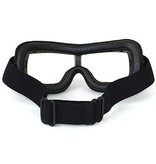 CRG black leather cruiser motor goggles