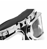 Chrome pilot goggles clear glass