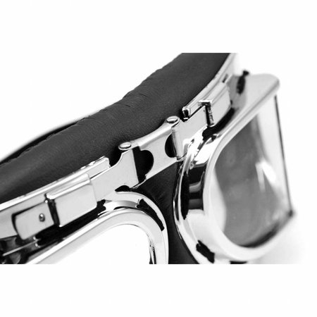 Chrome pilotenbril helder glas