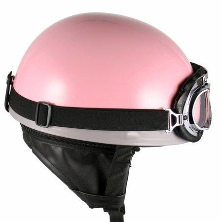 Pink half helmet
