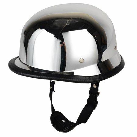 Chrome german motorcyle helmet