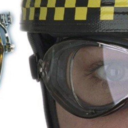 Aviator Goggle retro special optical chrome motorbril