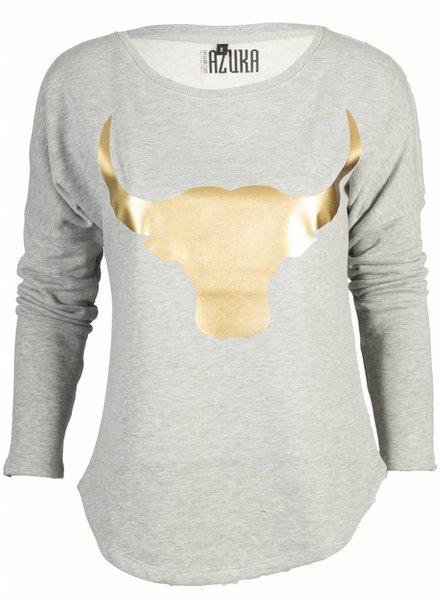 Azuka Sweater Bull Grijs