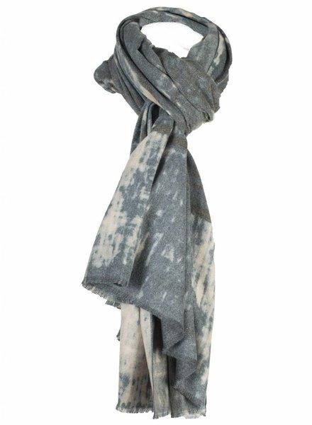 Sjaal print grijs