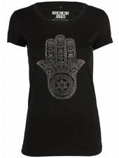 Azuka T-shirt hand of god zwart