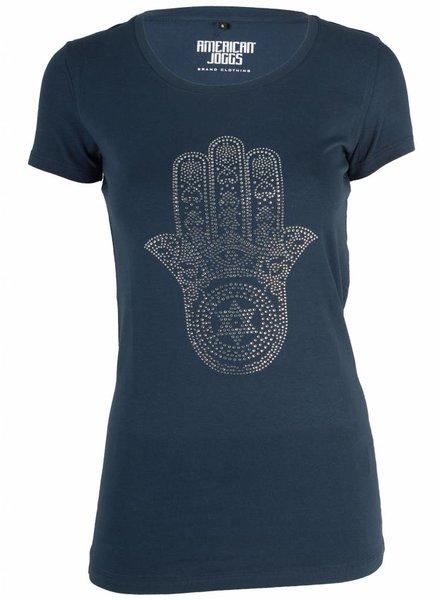 Azuka T-shirt hand of god blauw