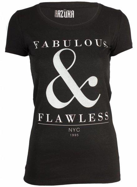 Azuka T-shirt Fabulous zwart