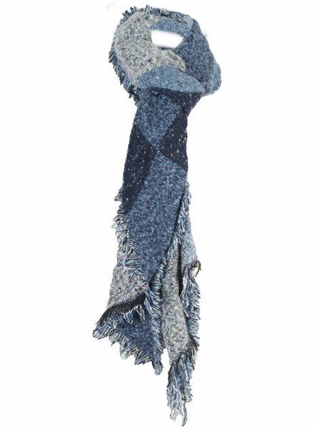 Sjaal blauw/grijs