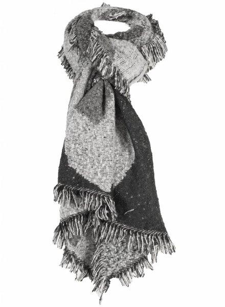 Sjaal zwart/grijs