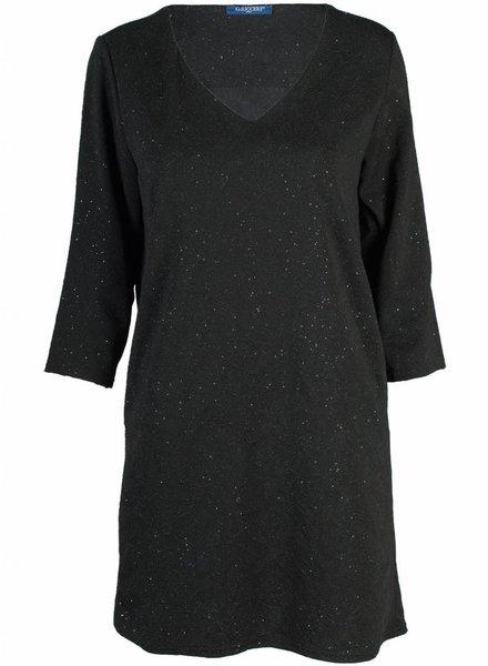 Gemma Ricceri Jurk glitter zwart