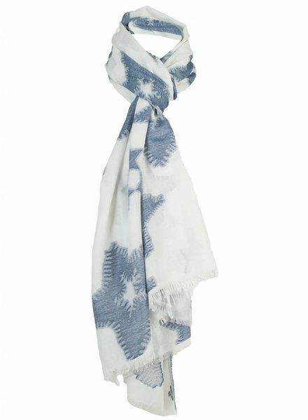 Sjaal Cristal blauw