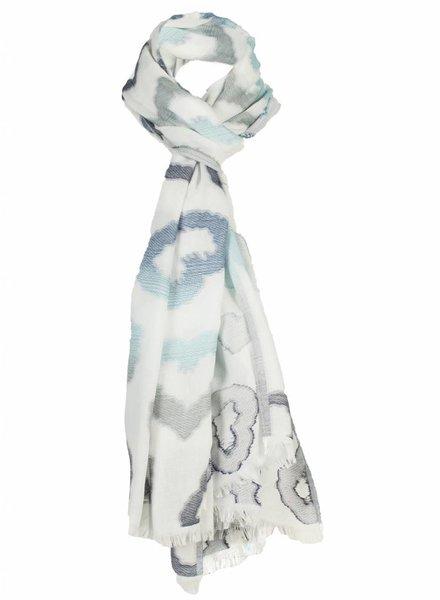 Sjaal love blauw