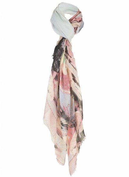 Sjaal multicolor print