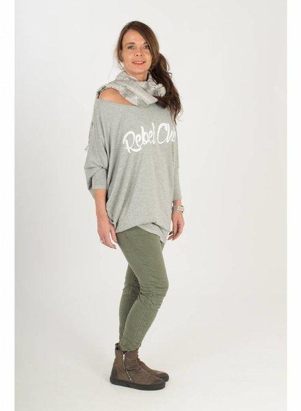 Gemma Ricceri Shirt Rebel Chic grijs