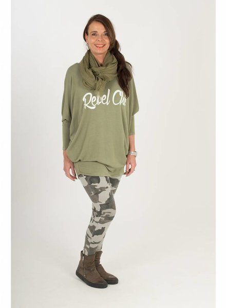 Gemma Ricceri Shirt Rebel Chic groen