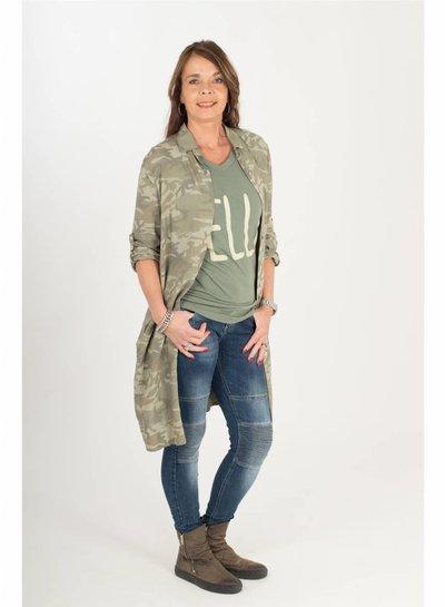Gemma Ricceri Blouse Seduce camouflage donker