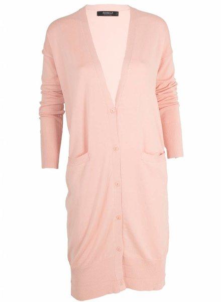 Rebelz Collection Vest Tess lang roze